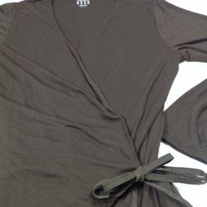 1828e043498e adidas Tops - Adidas plush wrap chocolate brown long sleeve top
